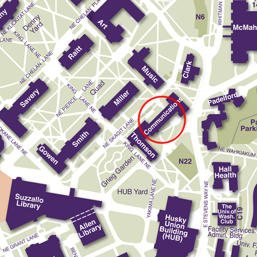 Map of Communications Building