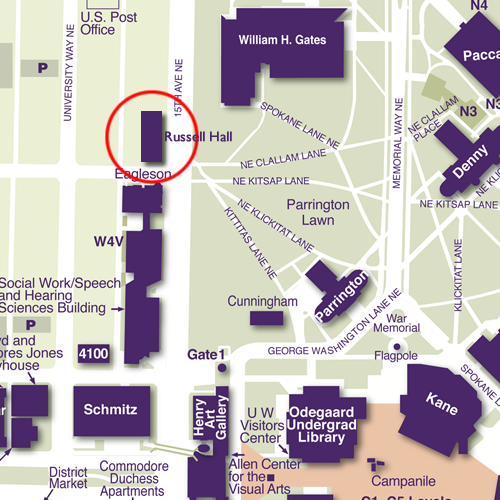 Map of Russell Hall