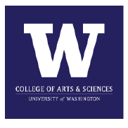 UW College of Arts & Sciences Patch Logo w/ purple background