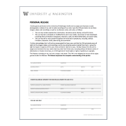 Preview of UW photo release form